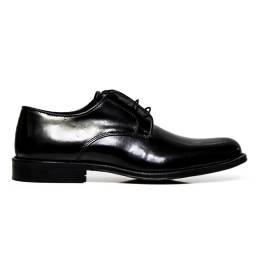 EXTON uomo scarpe eleganti stringate 493 ABRASIVATO NERO