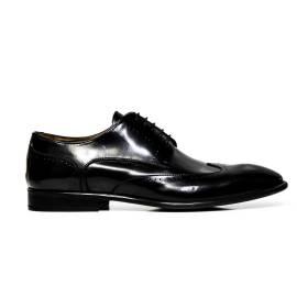 EXTON uomo scarpe eleganti stringate 9616 ABRASIVATO NERO