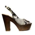 David Haron Women High Heel Sandals Art. Z03A Python Beige