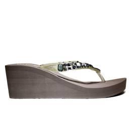 Superga Sandalo Donna Zeppa Bassa Art. S24P589 Fango