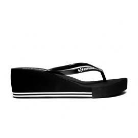 Superga Sandalo Donna Zeppa Bassa Art. S24G035 Nero