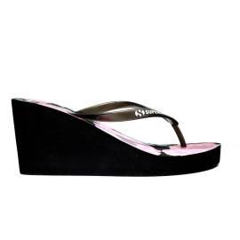 Superga Sandalo Donna Zeppa Alta Art. S24R136 Nero