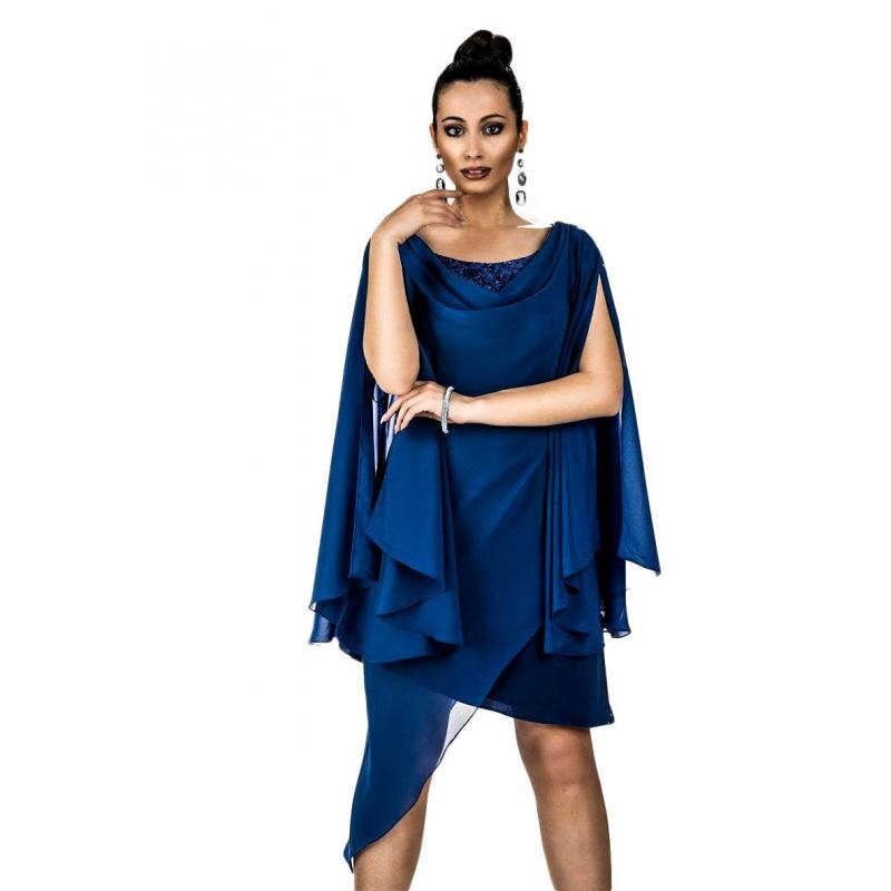 new product 6920a b9e63 Le donne di... abito corto donna da cerimonia ART. K-18025 blu