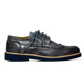 EXTON uomo scarpe eleganti stringate 9190 DELAVE' GRIGIO