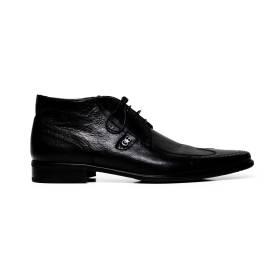 Cristiano Gualtieri uomo scarpe eleganti stringate in pelle 268 FOX NERO