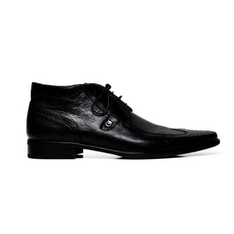 Cristiano Gualtieri lace up man shoes leather 268 FOX NERO