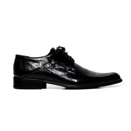 Cristiano Gualtieri uomo scarpe eleganti stringate in pelle 973DG NAPLAK NERO