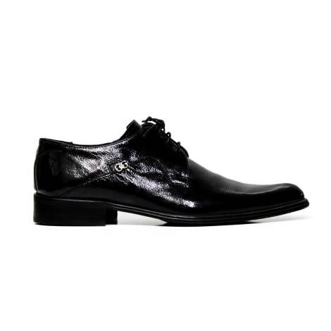 Cristiano Gualtieri lace up man shoes leather 973DG NAPLAK NERO