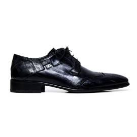 Cristiano Gualtieri uomo scarpe eleganti stringate in pelle 429 ANGUILLA BLU