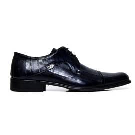 Cristiano Gualtieri uomo scarpe eleganti stringate in pelle 401 ANGUILLA BLU