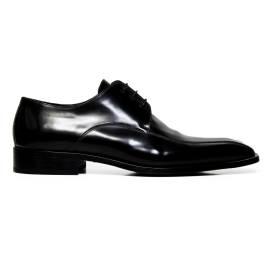 Marilungo uomo scarpe eleganti stringate in pelle T3224 SPAZZOLATO NERO