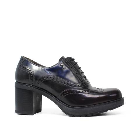 Nero Giardini Wingtip Shoes Woman in Leather A616491D 613 Bordeaux