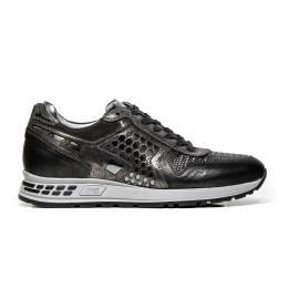 Nero Giardini Sneakers Woman In Leather A616182D 105 Grey