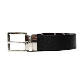 Men's leather belt leather Mario Valentino VCS06009 black