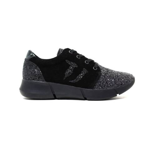 Trussardi Sneakers Woman Chamois Color Black 79S260 19