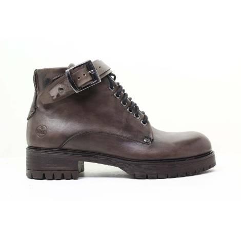 Dabliu Women Low Heel Ankle Boots ANVERSA 2 Dark Brown