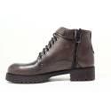 Dabliu Women Low Heel Ankle Boots ANVERSA 3 Dark Brown
