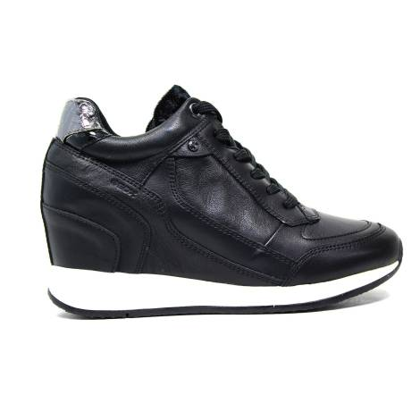 Geox D Nydame A Sneakers Donna Zeppa Alta 00085 C9997 D HYDAME A - NAPPA BLACK
