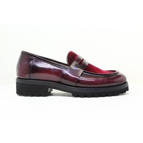 Francesco Milano Wingtip shoe Woman M018L-BOY BORDEAUX