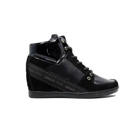 Versace Jeans E0VOBSA2 75332 899 sneaker donna zeppa interna medio alta colore nero