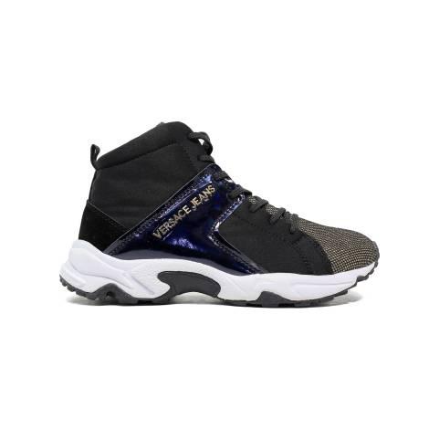 Versace Jeans E0VOBSD2 75396 M27 sneaker donna tacco basso colore nero oro