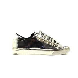 Versace Jeans E0VOBSF3 75399 901 sneaker donna tacco basso colore oro specchio