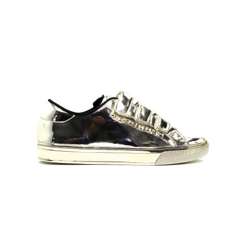 Versace Jeans E0VOBSD2 75396 M27 sneakers woman low-heeled black gold
