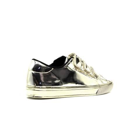 38c8efe9592d08 Versace Jeans E0VOBSF3 75399 901 sneakers woman low heel color mirror gold.