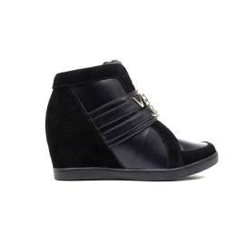 Versace Jeans E0VOBSA3 75388 899 sneaker donna zeppa interna medio alta colore nero