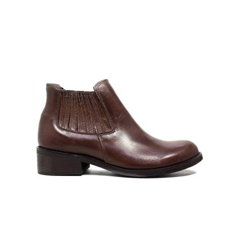 Polvere ankle boots woman low heel M17 / R bordeaux calf leather