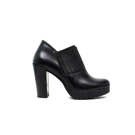 Polvere ankle boots woman high heel E409/R black calf leather
