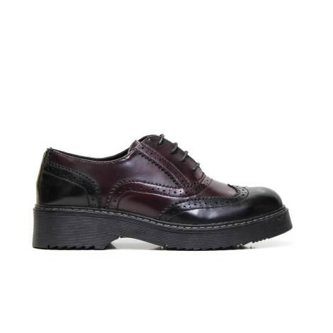 Kharisma wingtip shoe 1244 kenia black bordò