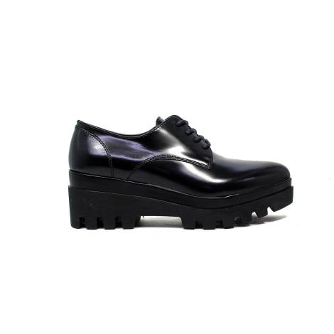 Janet Sport francesina donna con zeppa bassa 38787 scarpa lego nero/nero f 256
