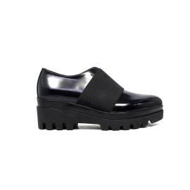 Janet Sport francesina donna con zeppa bassa 38789 scarpa lego nero/nero f 256
