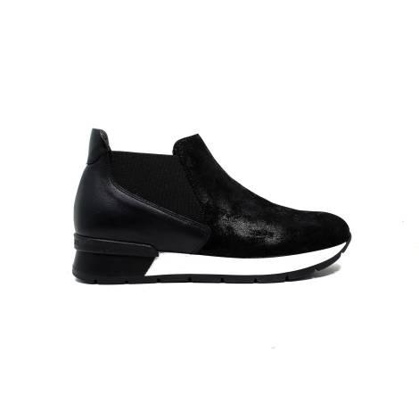 Janet Sport sneakers donna con tacco basso 38801 polacco diablo/asterix nero/nero f 265