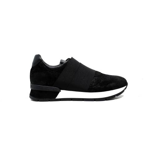 Janet Sport Women's sneakers with low heel 38801 Polish diablo / asterix black / black f 265