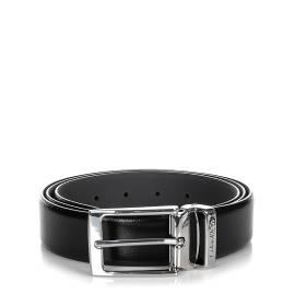 Calvin Klein cintura uomo K50K502080 001 nero in pelle con fibbia metallica rettangolare