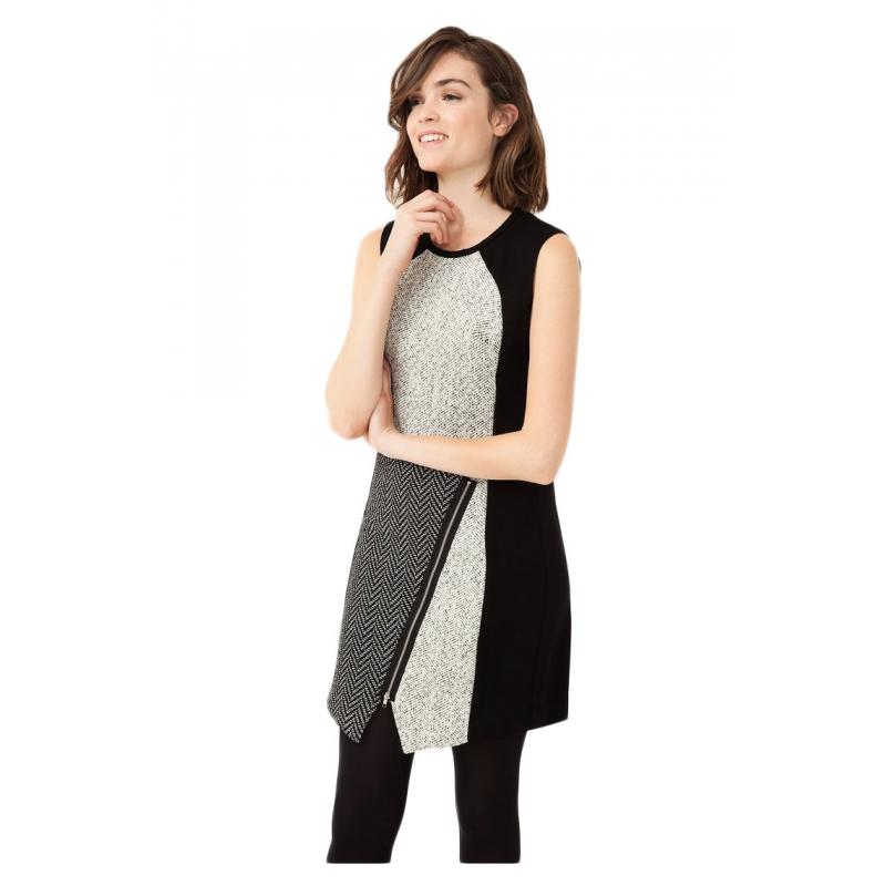Desigual vestito corto donna 67V28A8 2000 oceano color nero e bianco ... 2f640e54ef9