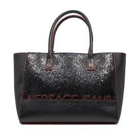 Versace Jeans Woman Bag Black E1VOBBO3 75340 899 nappa morbida+glitter