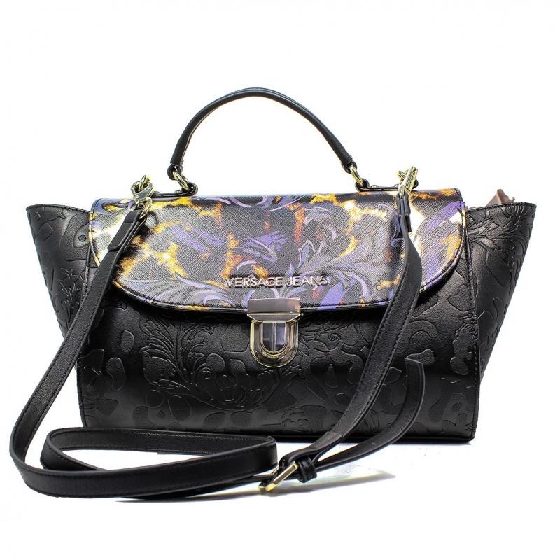 Versace Jeans Woman Bag Black E1VOBBI1 75352 899 nappa embossata stampata 03344e31703a5