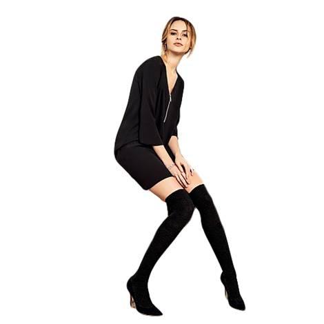 Philippe Matignon over the knee socks woman M115240 black viscose, polyamide and elastane