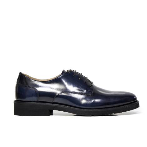 B. Young laced up shoe elegant man ART. 720 ABRASIVATO BLUE with laces Italian brand