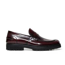 B. Young man loafer SUPER4 ABRASIVATO BURGUNDRY Italian brand