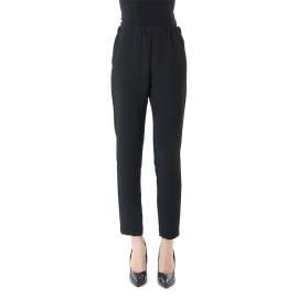 Sandro Ferrone pantalone elastico C12 LEVANZO AI17 crepe cady color nero in poliestere