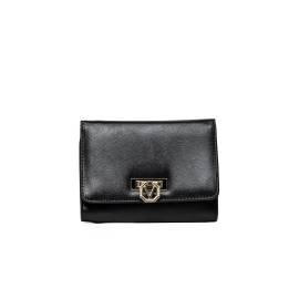 Mario Valentino portafoglio donna VPS1FF43 AUBETTE in ecopelle color nero con apertura a clip