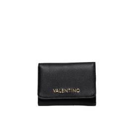 Mario Valentino portafoglio donna VPS1E043K RIALTO in ecopelle color nero, con chiusura clip