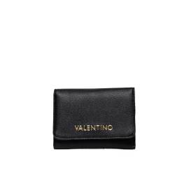 Valentino Handbags wallet VPS1E043K RIALTO woman in black leather, with Valentino written on the front side