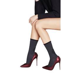 OMSA calzino moda donna 3517 color grigio scuro, taglia unica