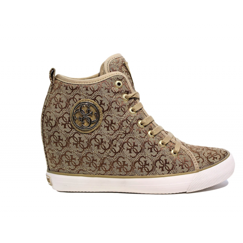 save off cf728 ce368 Guess beige sneaker with logo fabric and inner wedge article FLJIL1 FAL12
