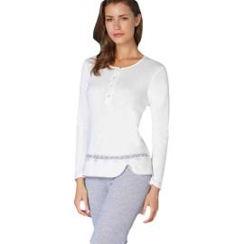 Andra pigiama donna Art. 7725 color bianco e grigio
